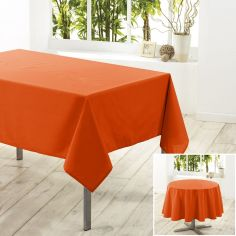 Essentiel Plain Tablecloth - Brick Orange