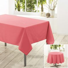 Essentiel Plain Tablecloth - Coral Pink