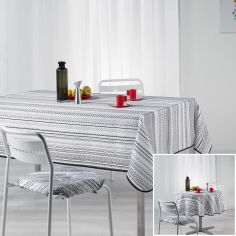 Analea Stripe Tablecloth - Black & White