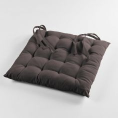 Pacifique Plain 100% Cotton Quilted Seat Pad - Taupe