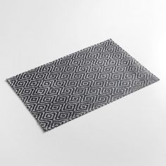 Losamo Basketweave Fibre Paper Placemat - Black