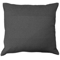 Lana Woven Cotton Cushion Cover - Charcoal Grey