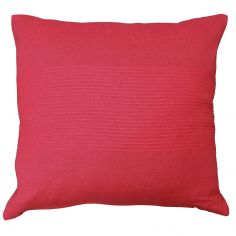 Lana Woven Cotton Cushion Cover - Red
