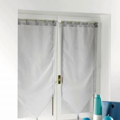 Voiline Plain Voile Tasselled Blind Pair with Tab Top - Grey