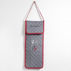 BBQ 100% Cotton Quilted Bread Bag - Red & Charcoal