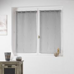 Siane Woven Effect Voile Blind Pair with Tab Top - Grey