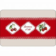 Fruits Rouges Opaque Placemat - Red