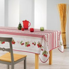 Fruits Rouges Printed Tablecloth - Red