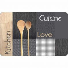 Cantine Kitchen Cuisine Love Opaque Placemat - Multi