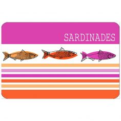 Sardinades Opaque Table Placemat - Pink Orange