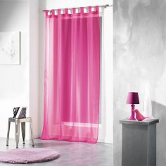 Voiline Plain Voile Curtain Panel with Tab Top - Pink