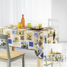 Olei Tablecloth with Printed Olives - Multi