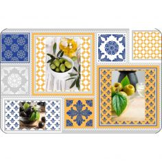Olei Opaque Placemat with Printed Olives - Multi
