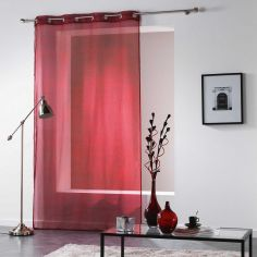 Verona Printed Eyelet Voile Curtain Panel - Red