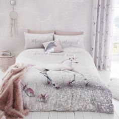 Catherine Lansfield Enchanted Unicorn Easy Care Duvet Cover Set - Pink Multi