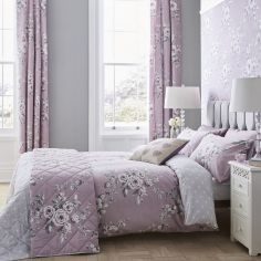 Catherine Lansfield Canterbury Duvet Cover Set - Heather Pink