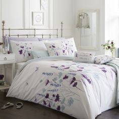 Amelia Floral Duvet Cover Set - Plum Purple