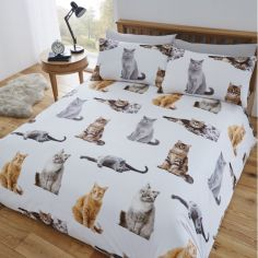 Cats Duvet Cover Set - Multi