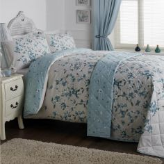 Lyla Floral Duvet Cover Set - Blue Multi