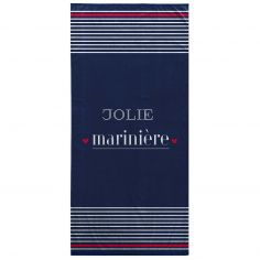 Navy 100% Cotton Beach Towel - Mariniere