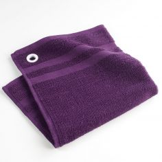 Cave A Vin Plain 100% Cotton Square Kitchen Hand Towel - Purple