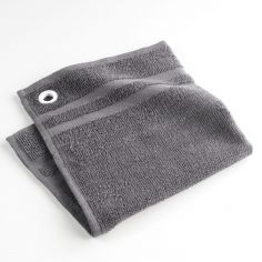 Top Cuisine 100% Terry Cotton Square Hand Towel - Grey