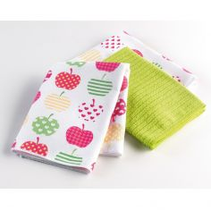 Easy Deco Set of 3 Microfibre Kitchen Towels - Lime Green