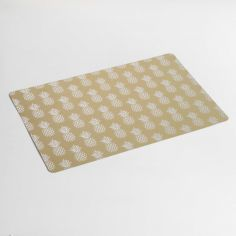 Ananas PVC Placemat with Pineapple Print - Gold