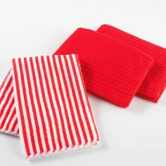 Cuistot Set of 3 Microfibre Kitchen Towels - Red