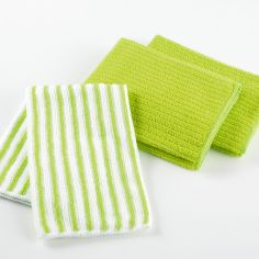 Cuistot Set of 3 Microfibre Kitchen Towels - Green