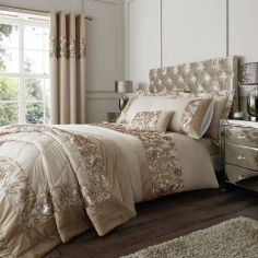 Catherine Lansfield Sequin Trail Duvet Cover Set - Gold