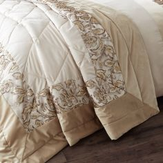 Catherine Lansfield Sequin Trail Bedspread - Gold