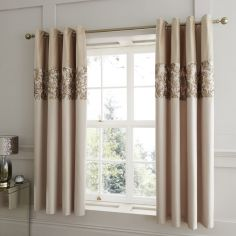 Catherine Lansfield Sequin Trail Fully Lined Eyelet Curtains - Gold