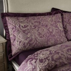 Catherine Lansfield Regal Jacquard Pillowsham Pair - Plum Purple