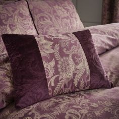 Catherine Lansfield Regal Jacquard Filled Cushion - Plum Purple