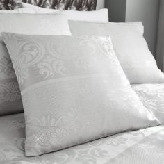 Catherine Lansfield Elegance Jacquard Cushion Cover - Silver