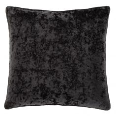 Catherine Lansfield Crushed Velvet Cushion Cover - Black