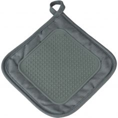 Cuistot Polycotton Pot Holder with Silicone Coating - Grey