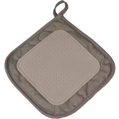 Cuistot Polycotton Pot Holder with Silicone Coating - Taupe