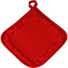 Cuistot Polycotton Pot Holder with Silicone Coating - Red