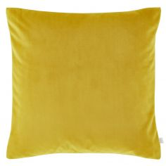Catherine Lansfield Contrast Velvet Cushion Cover - Ochre Yellow