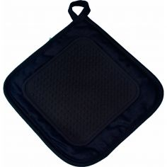 Cuistot Polycotton Pot Holder with Silicone Coating - Black