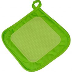 Cuistot Polycotton Pot Holder with Silicone Coating - Green