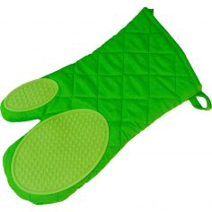 Cuistot Polycotton Oven Glove with Silicone Coating - Green