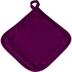 Cuistot Polycotton Pot Holder with Silicone Coating - Purple