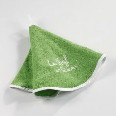 Cuistot 100% Terry Cotton Round Hand Towel - Green