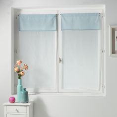 Femina Pair of Straight Voile Blinds with Slot Top - Blue