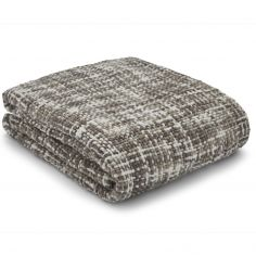 Catherine Lansfield Tonal Weave Throw - Grey