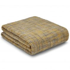 Catherine Lansfield Tonal Weave Throw - Yellow