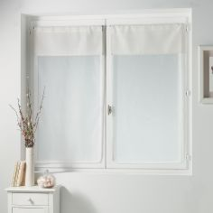Femina Pair of Straight Voile Blinds with Slot Top - Cream